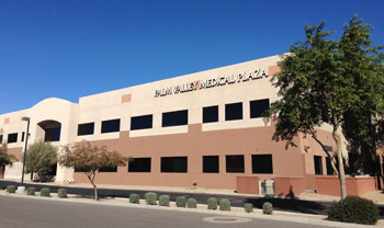The office of Goodyear Eye Specialists in the Palm Valley Medical Plaza